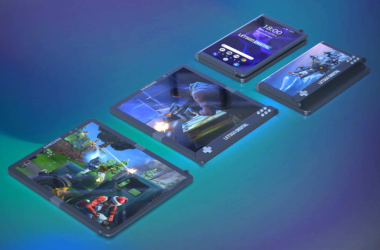 Samsung opvouwbare gaming smartphone