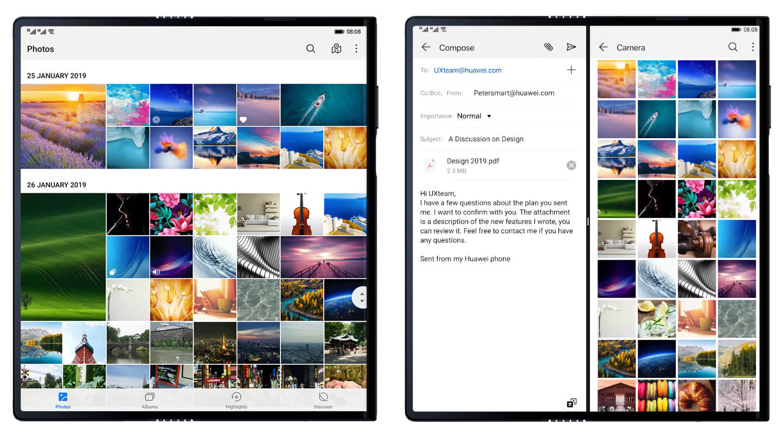 Huawei dual SIM opvouwbare smartphones