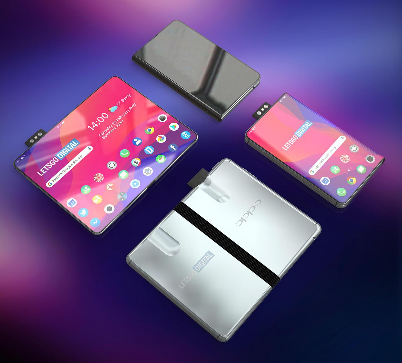 Oppo opvoubare smartphone