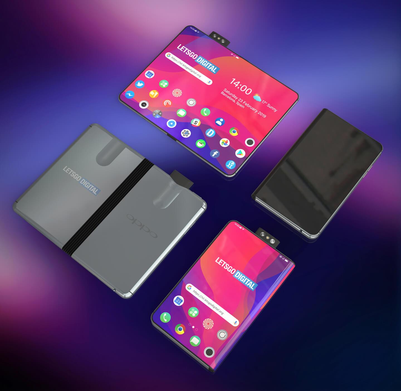 Oppo smartphone met vouwbaar scherm