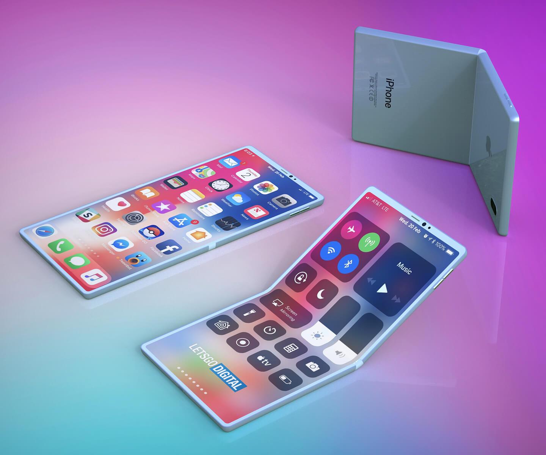 Opvouwbare Apple smartphone