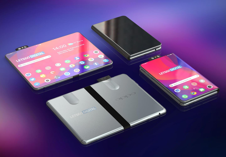Opvouwbare Oppo telefoon