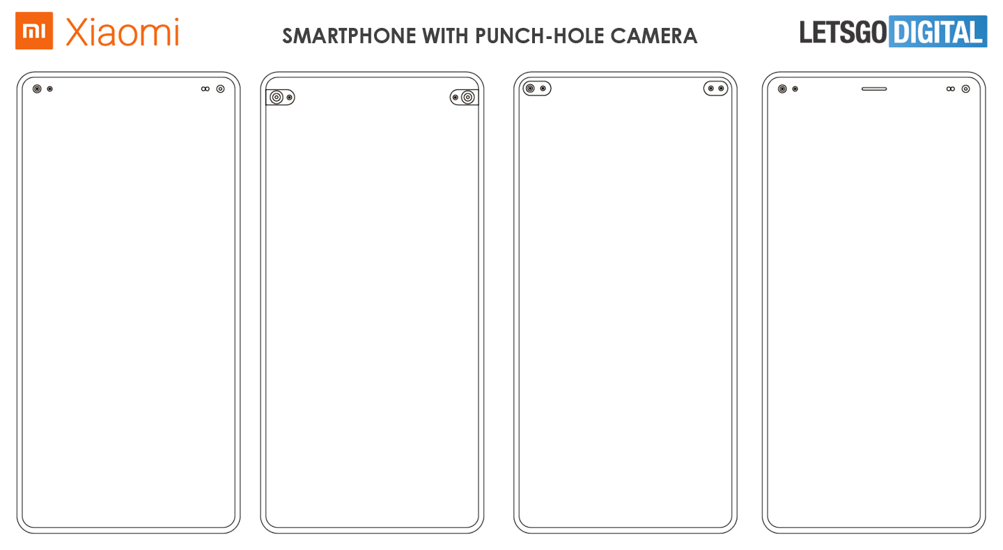 Xiaomi smartphone punch-hole camera
