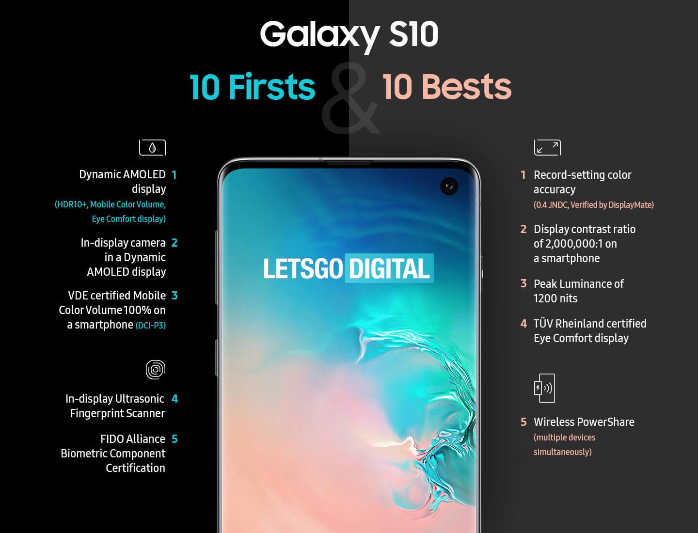 Beste functies Galaxy S10