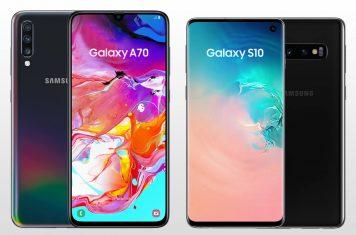 Galaxy A70 Galaxy S10
