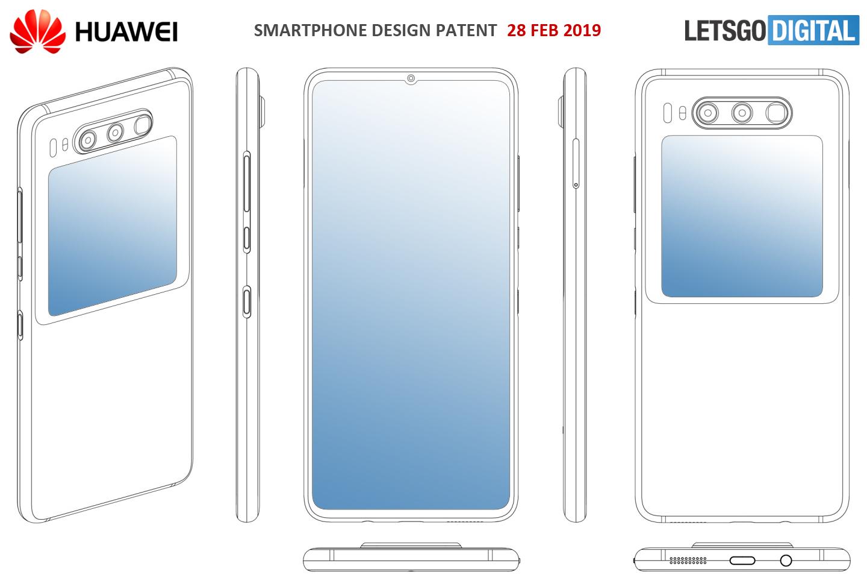 Huawei smartphone display achterzijde
