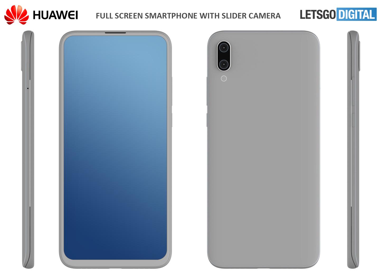 Huawei smartphone met uitschuifbare camera