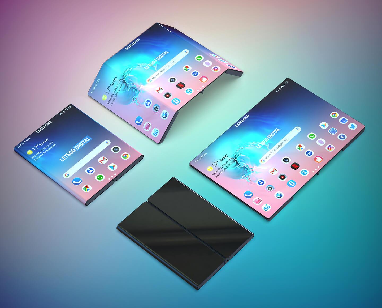 Mobiele telefoons opvouwbaar