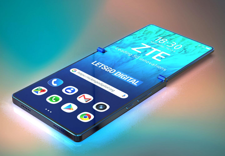 Opvouwbare ZTE smartphone