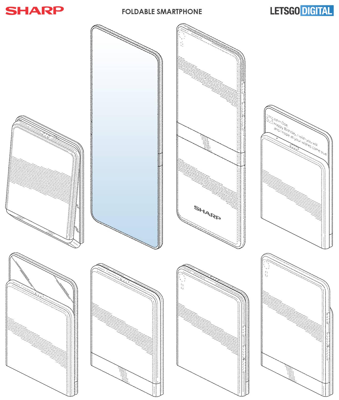 Sharp opvouwbare smartphone