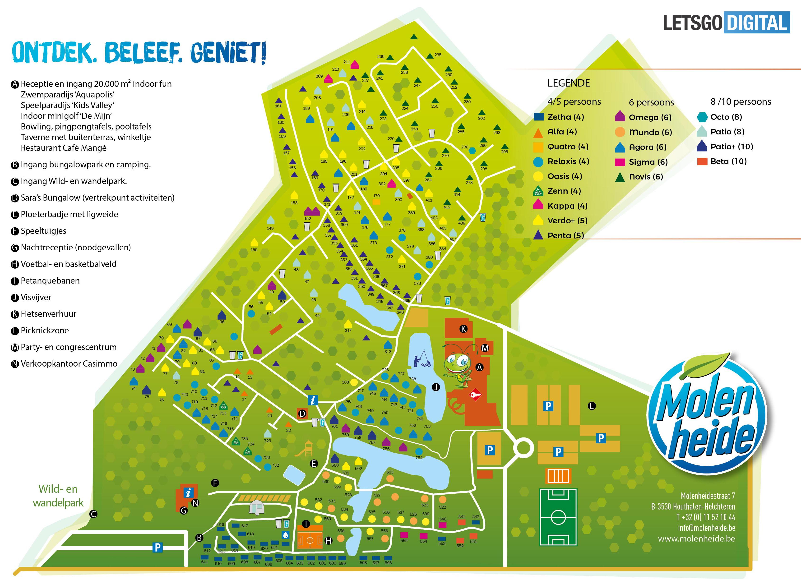 Vakantiepark plattegrond