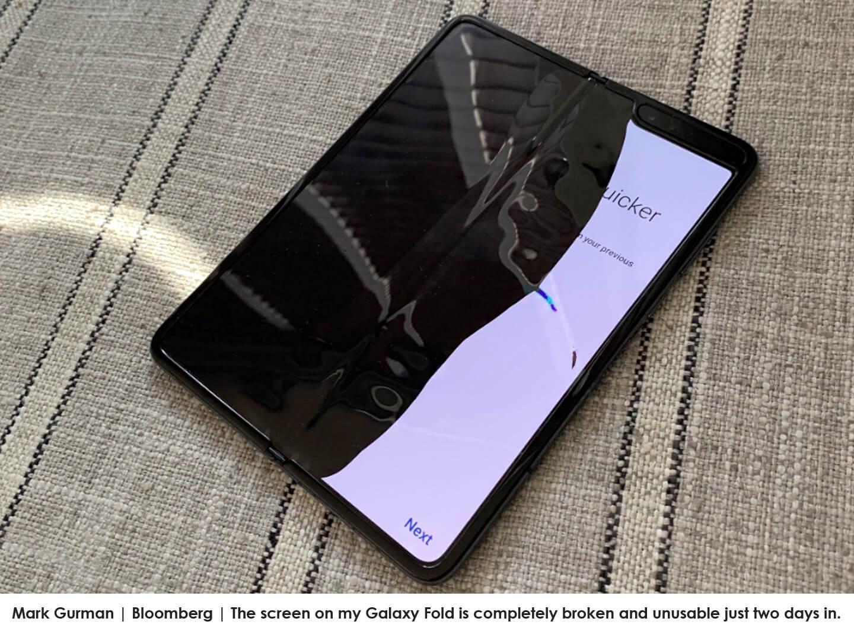 Flexibele scherm defect
