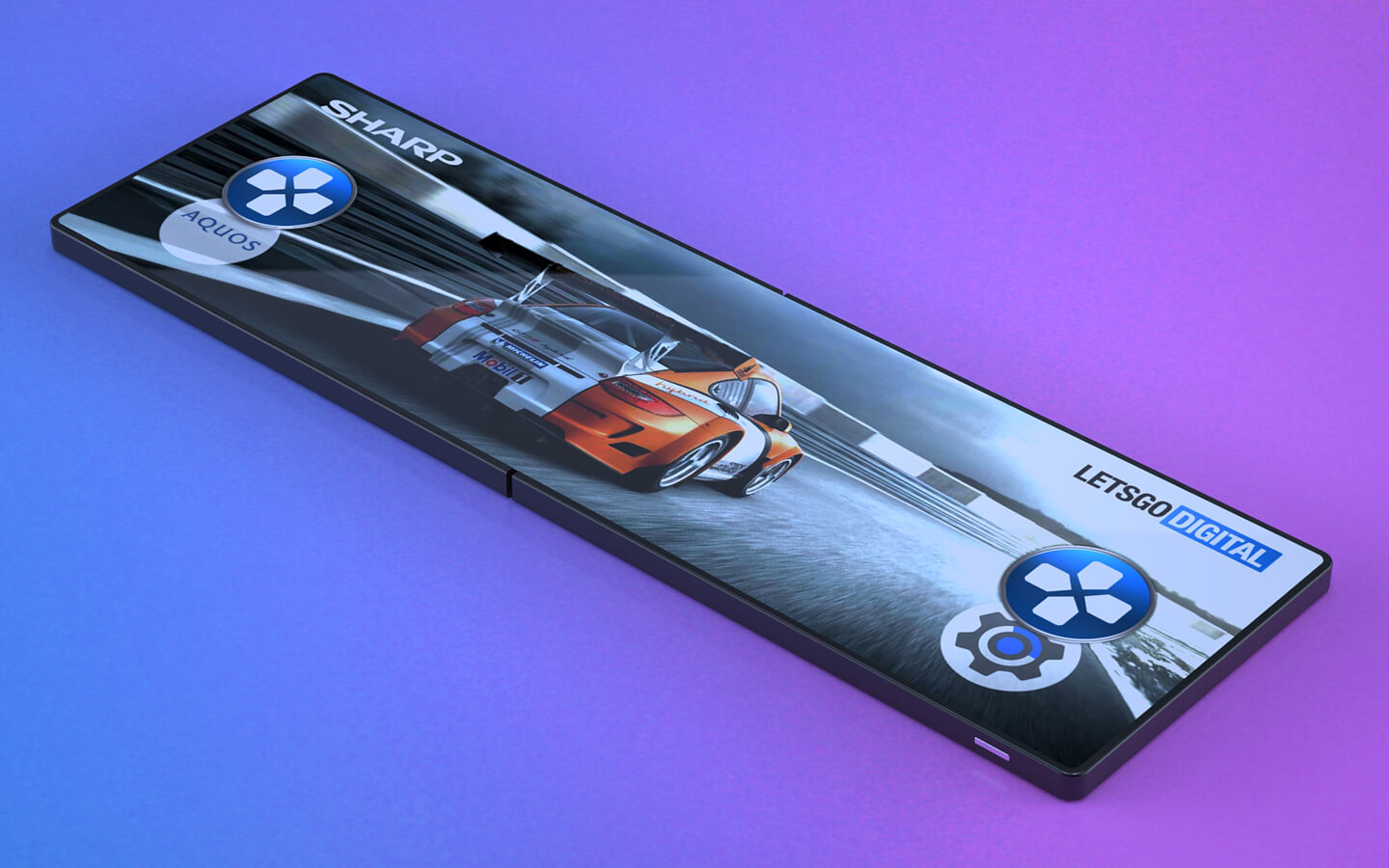 Opvouwbare gaming smartphone