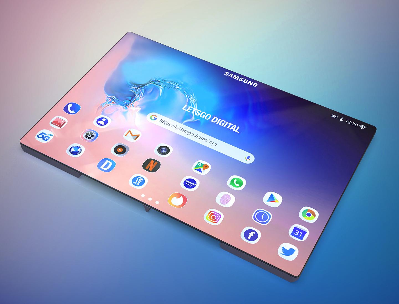 Opvouwbare Samsung smartphone