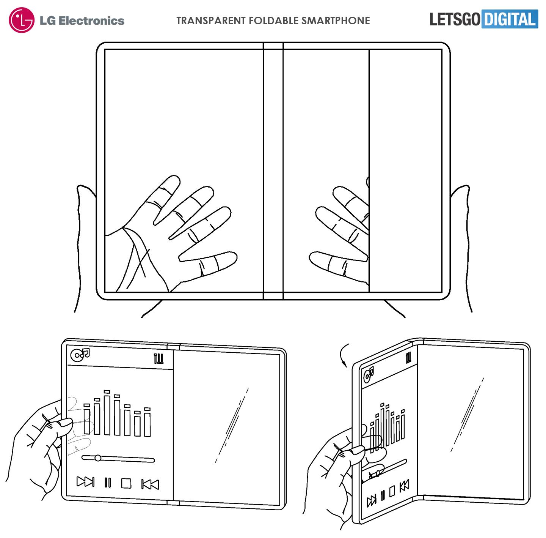 Opvouwbare telefoon transparant display