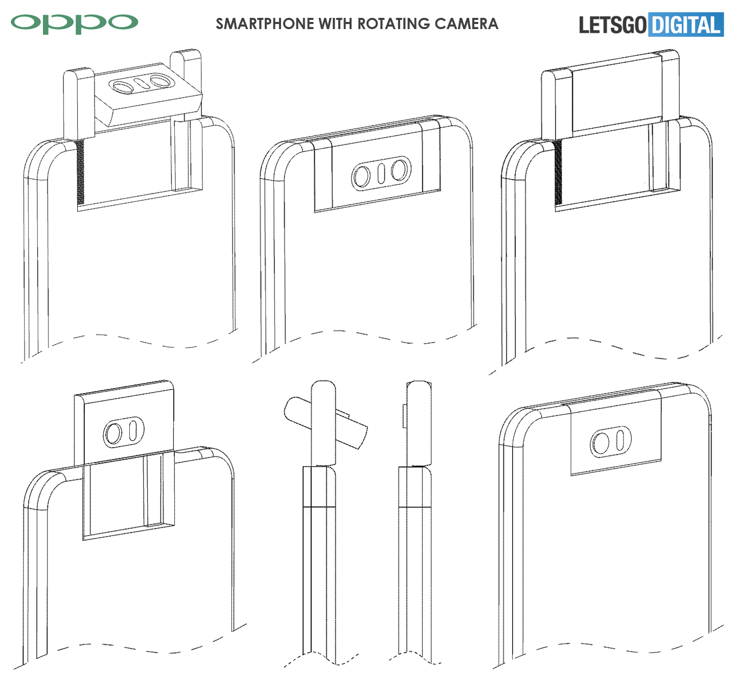 Oppo telefoon roterend camerasysteem