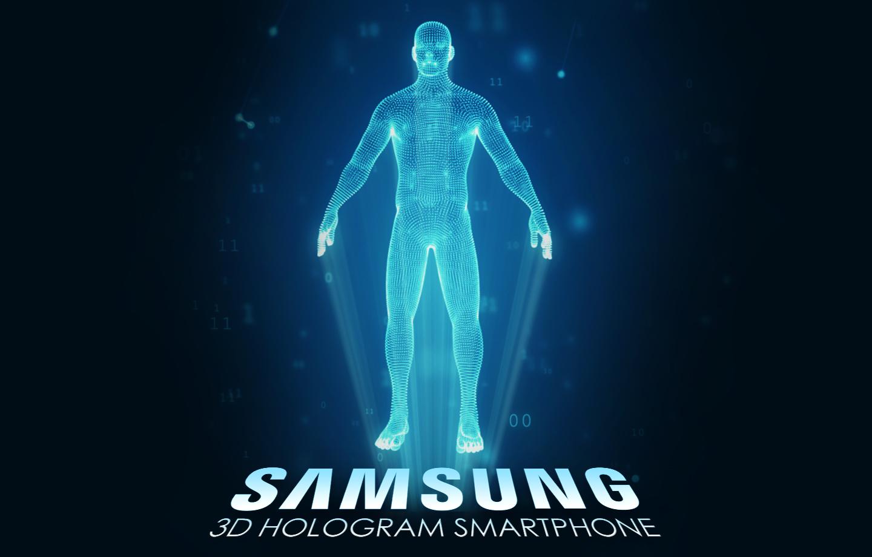 Smartphone hologram display