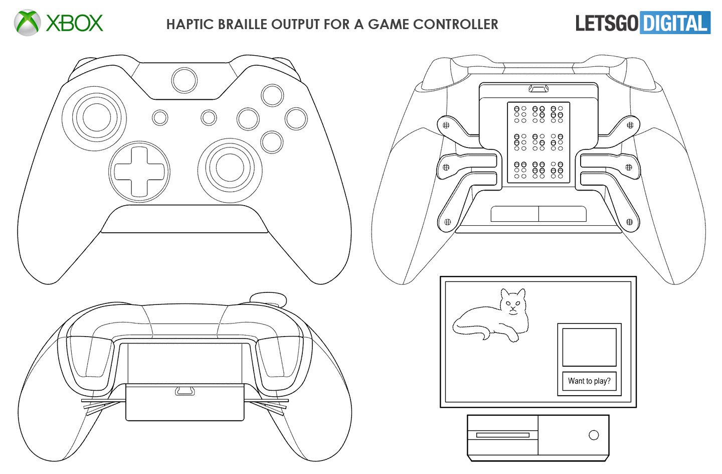Xbox game controller braille