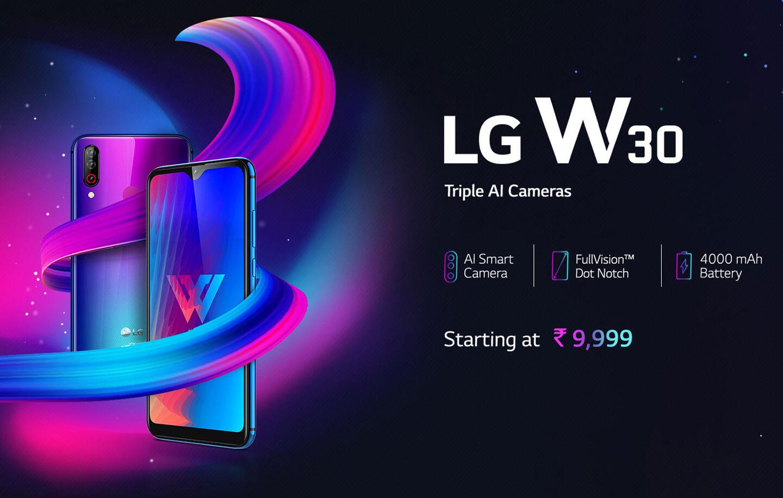 LG W30 smartphone met grote batterij