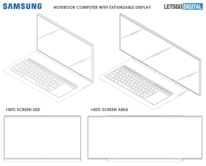 Notebook met uitschuifbaar scherm