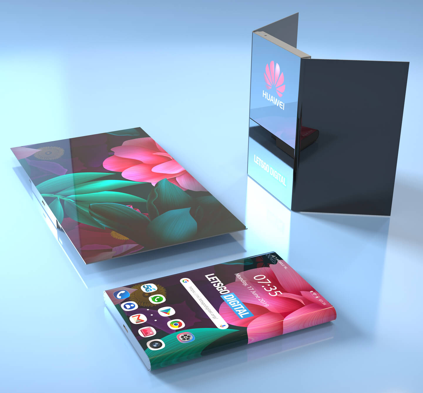 Foldable Huawei phones