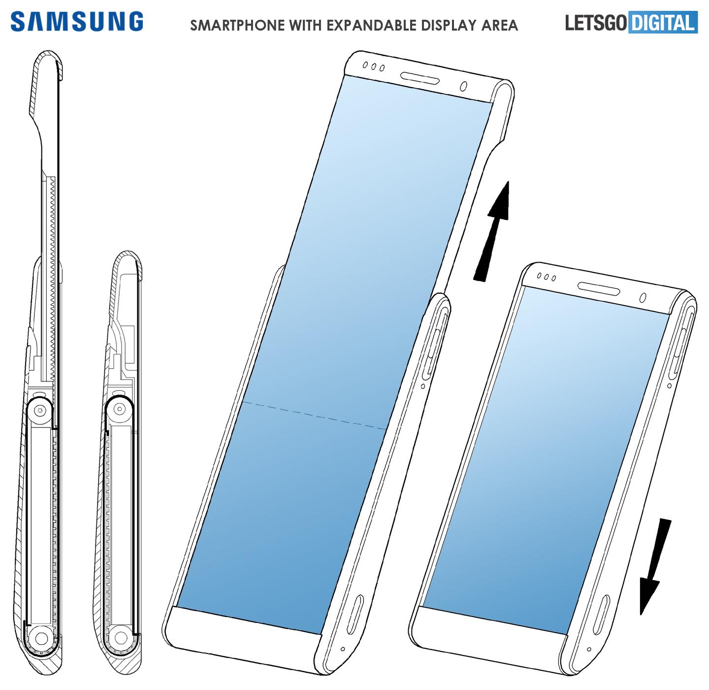 Выдвижной экран телефона Samsung