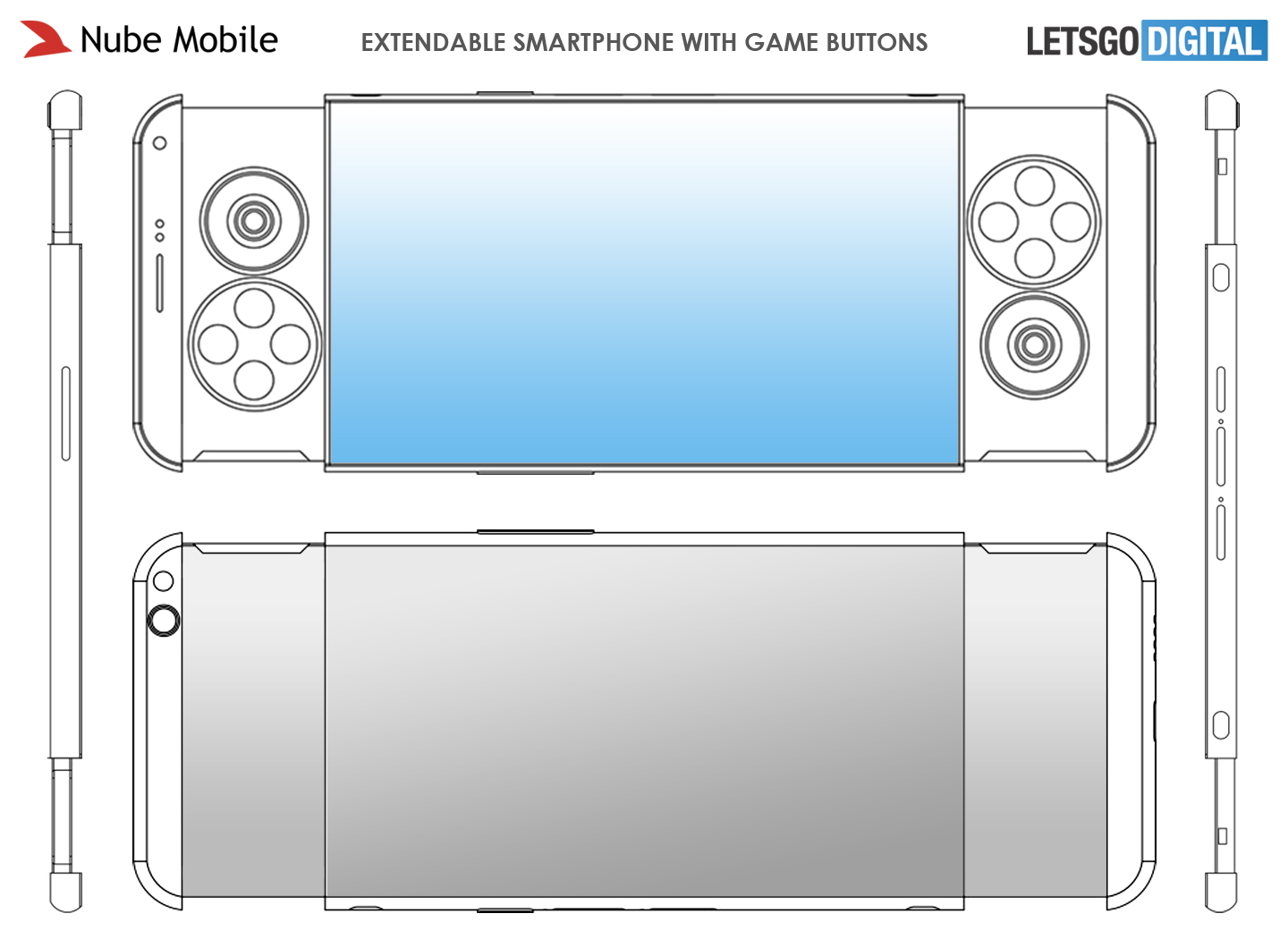 Telefoon met game buttons
