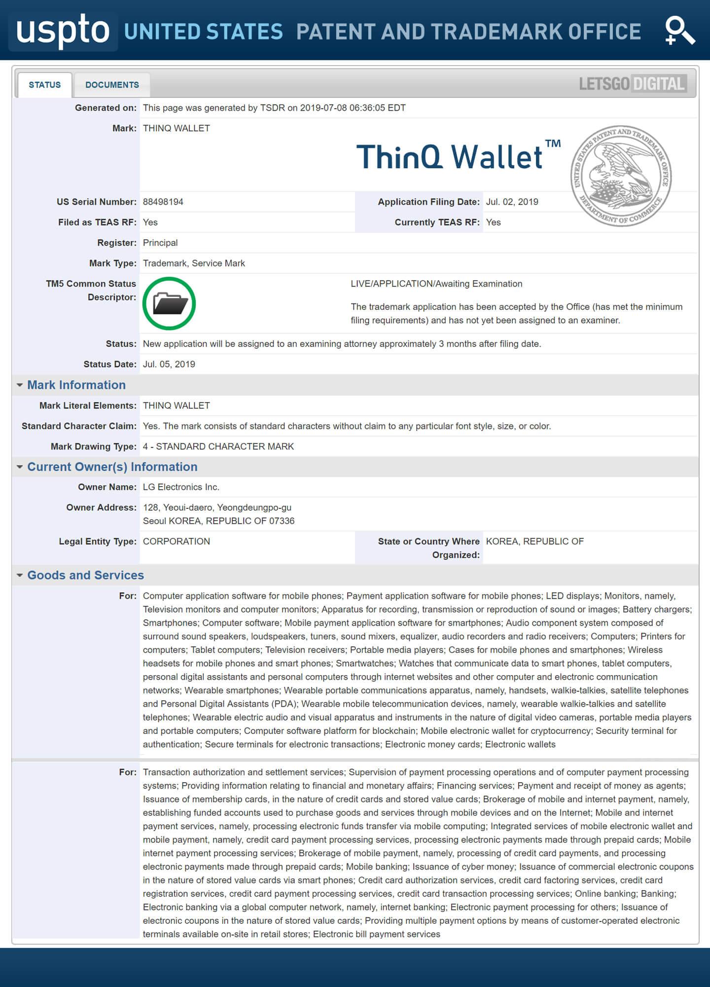LG ThinQ Wallet