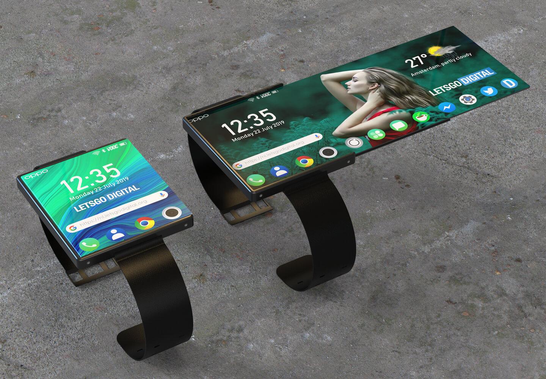 Opvouwbare smartwatch