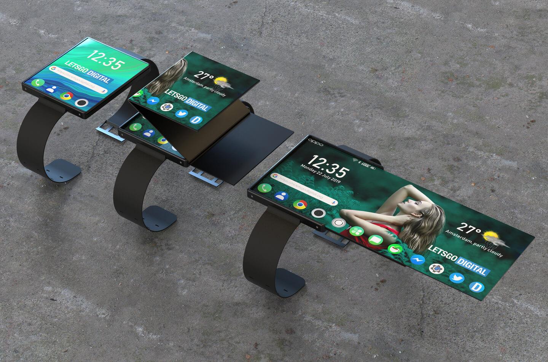 Smartwatch met opvouwbaar scherm