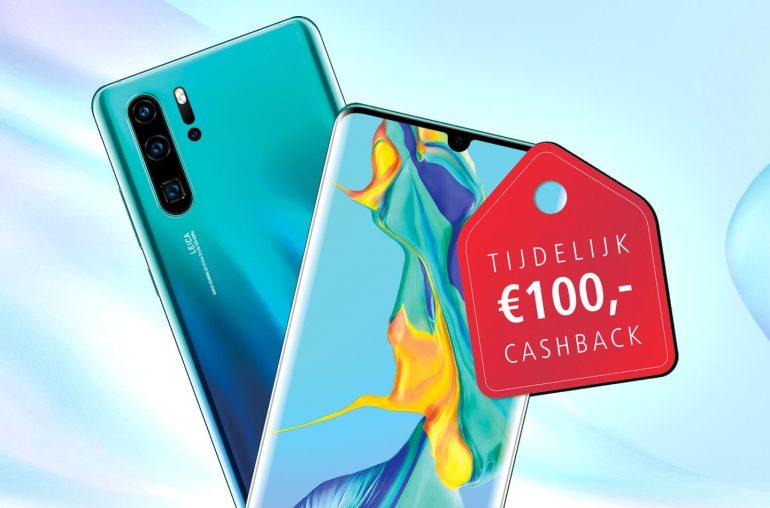 Cashback korting Huawei