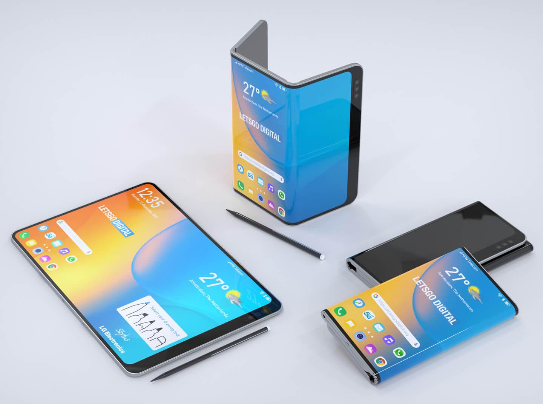 Dubbel vouwbare telefoon