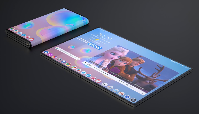 Galaxy opvouwbare telefoon