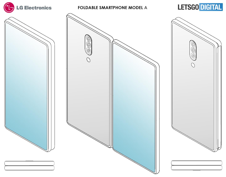 LG opvouwbare telefoon zonder knoppen