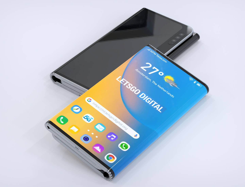 LG vouwbare telefoon