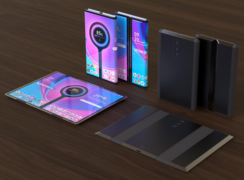 Mobiele telefoon opvouwbaar