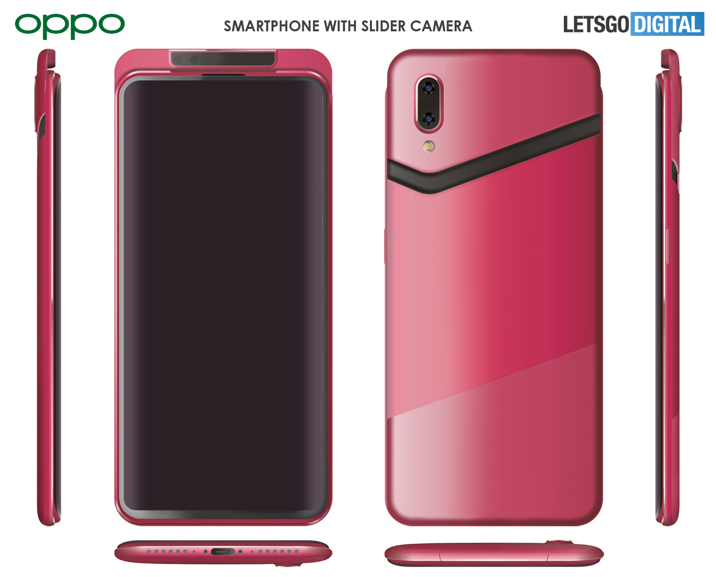 Oppo Find product renders