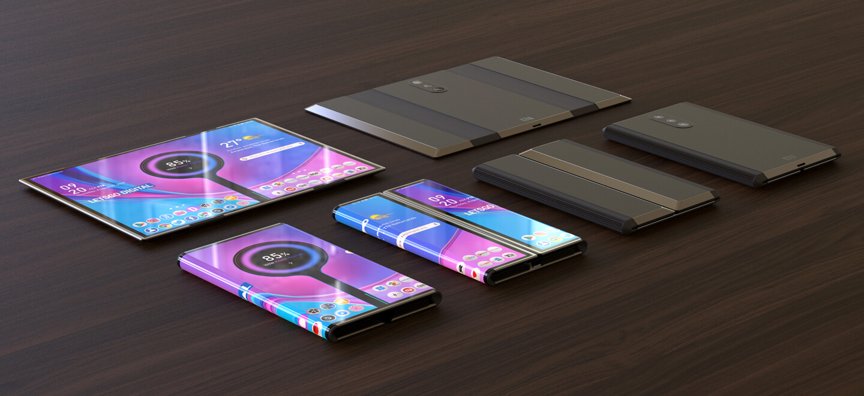 Opvouwbare mobiele telefoons