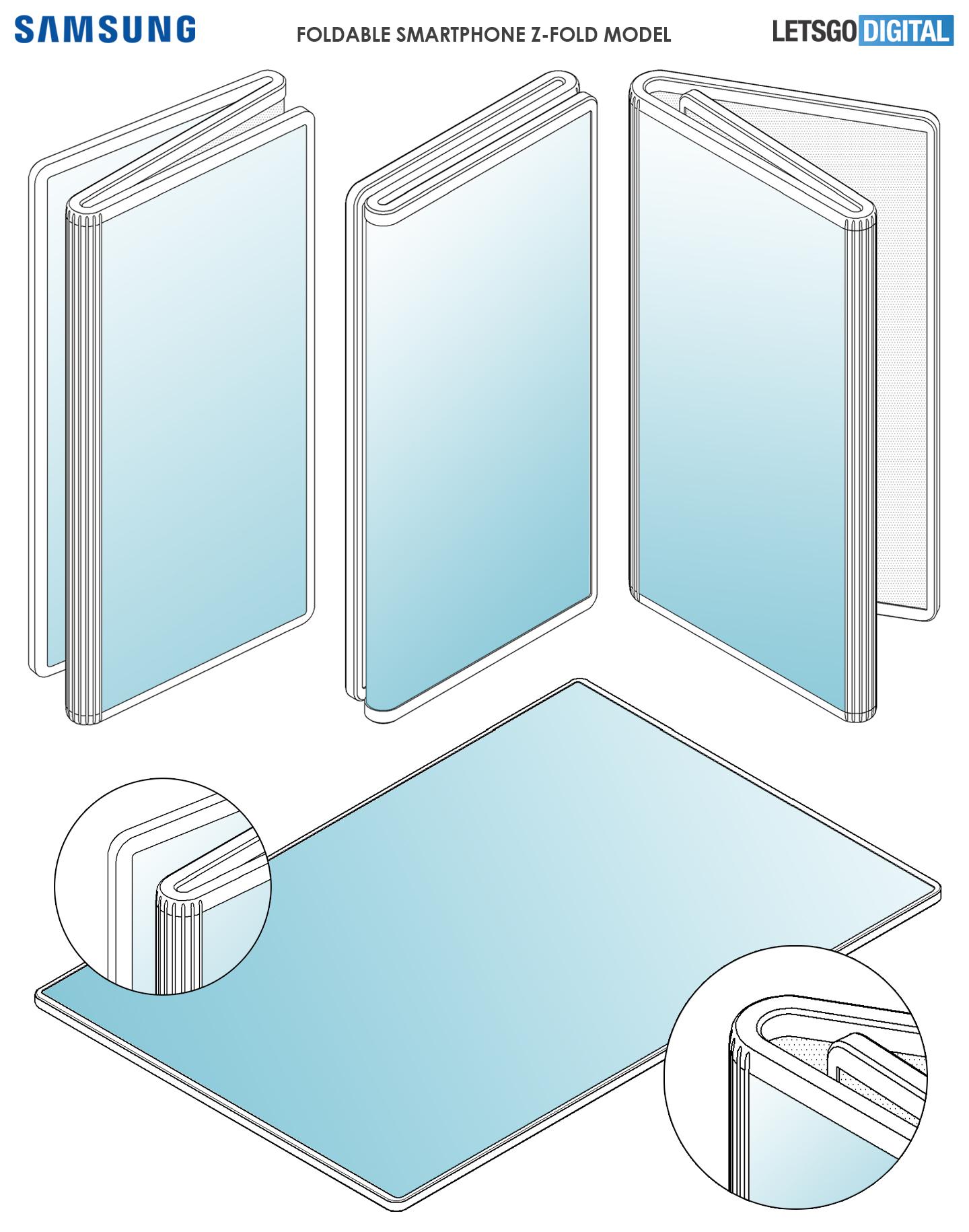 Opvouwbare telefoon Z-fold design