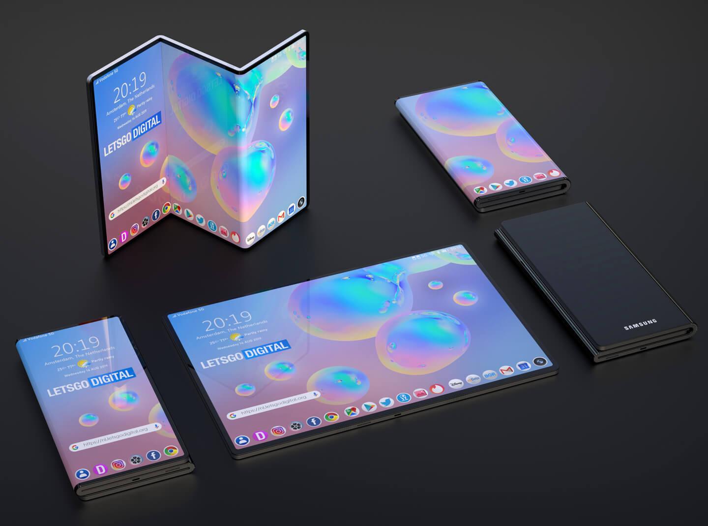 Opvouwbare telefoons Z-fold
