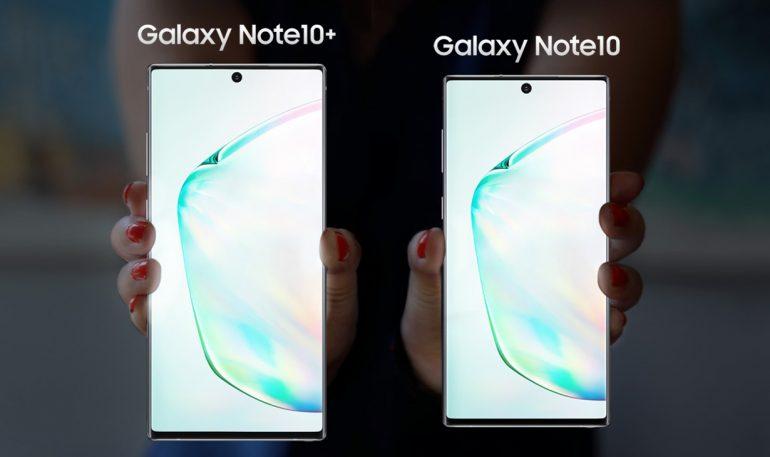 Samsung Galaxy Note 10 smartphones