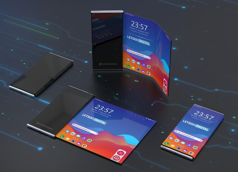 Smartphone met oprolbaar display
