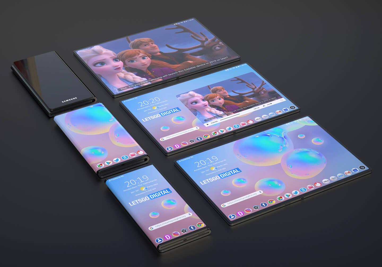 Smartphone Samsung opvouwbaa