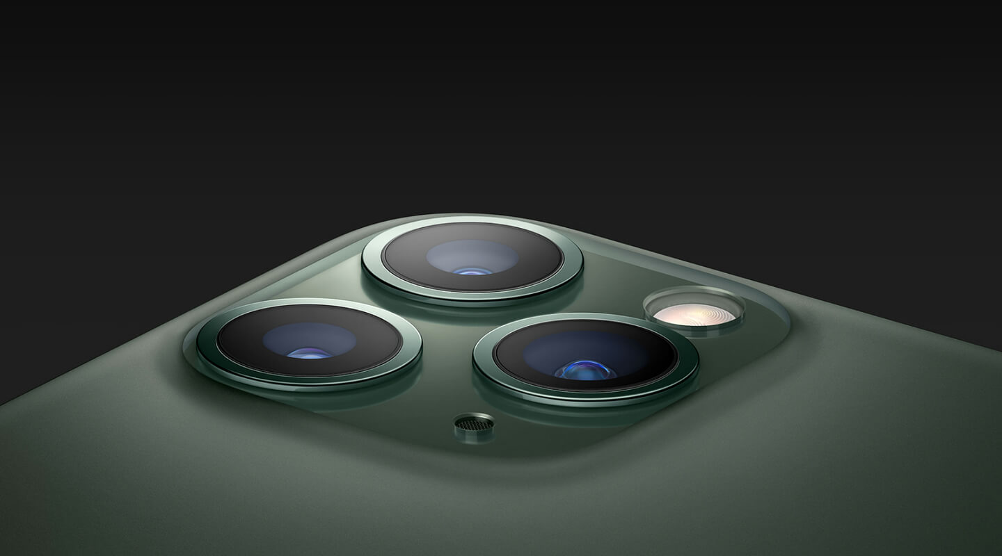 Apple smartphone met triple camera