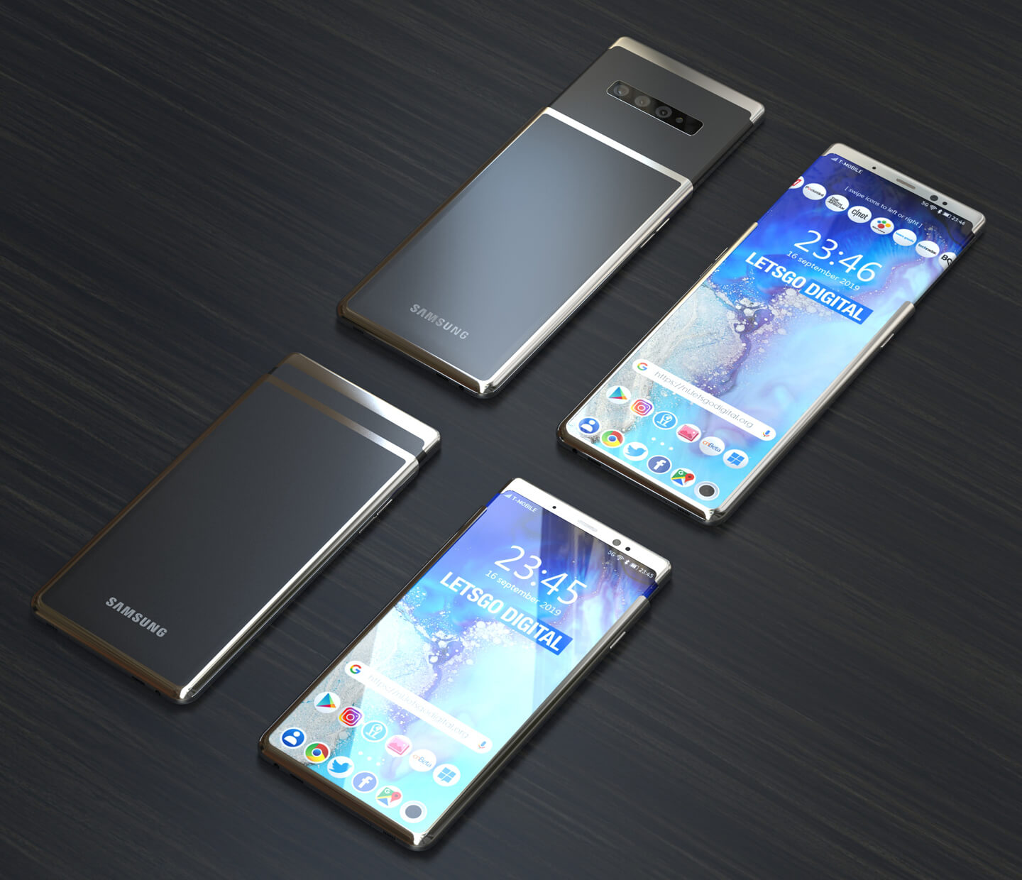 Galaxy smartphone slider model