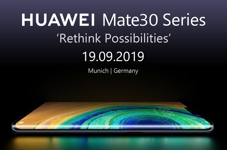 Huawei Mate 30 modellen