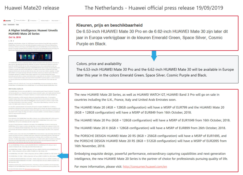 Huawei Mate 30 persbericht