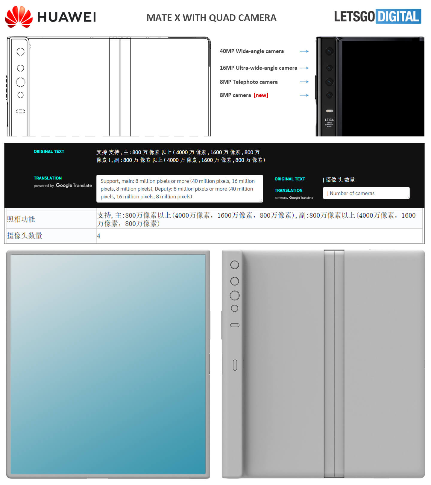 Huawei Mate X Quad camera