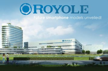 Royole smartphone met waterfall display