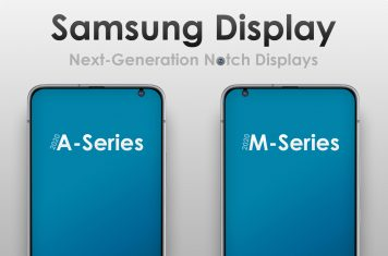 Samsung smartphone displays